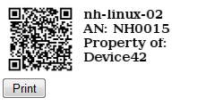 QR Codes and Asset Tags
