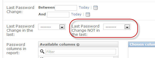IT Password Reporting