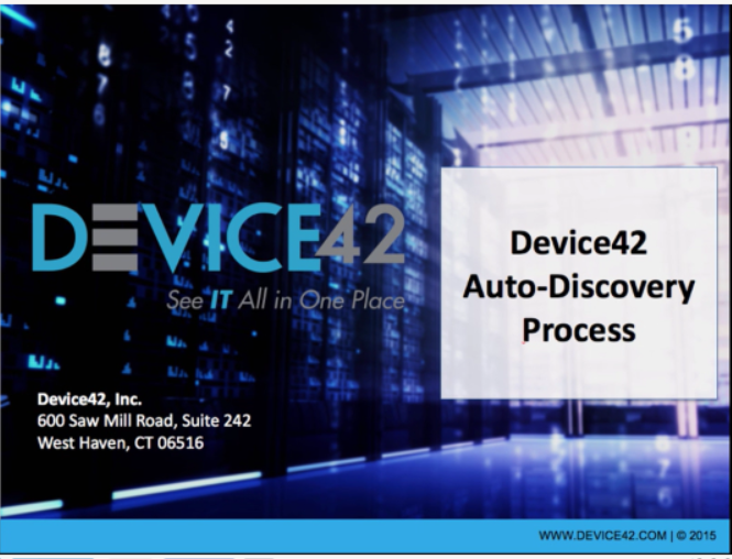 Device42 Auto-discovery Introduction