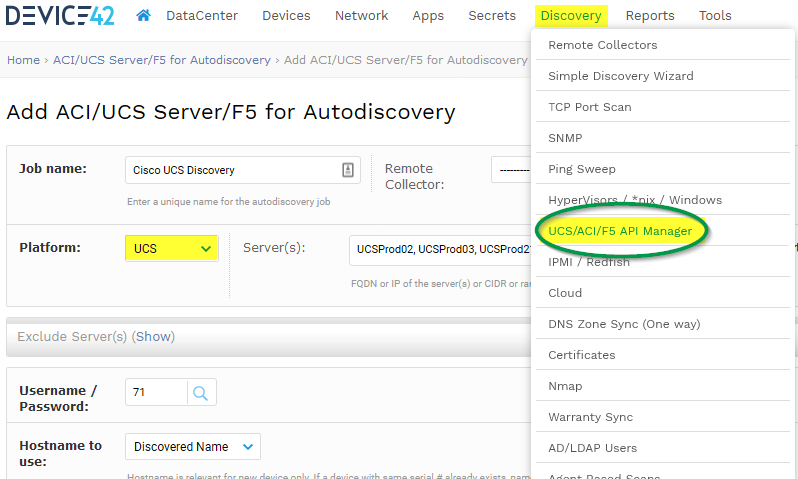 Cisco UCS Manager Auto-discovery