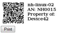 QR Codes, Asset tags