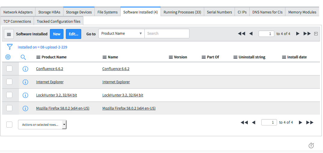 Natively view synced CI details in servicenow